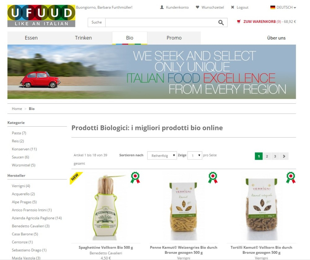 Ufuud Shop Screenshot