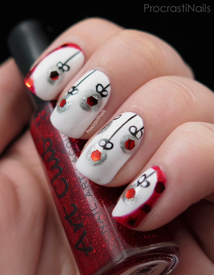 christmas ornament nail art - photo #44