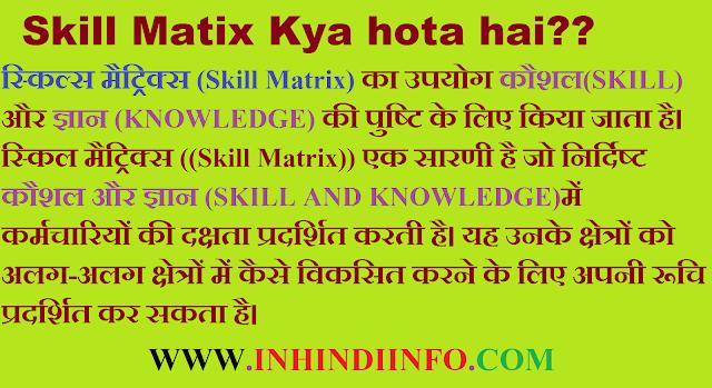 Skill Matrix In Hindi