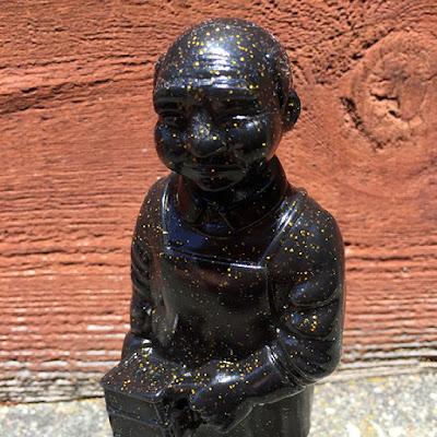Sofubi-man Black with Glitter Edition Vinyl Figure by Mark Nagata & Max Toy Company