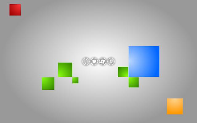 Grijze Windows 8 achtergrond met gekleurde vierkanten tegels