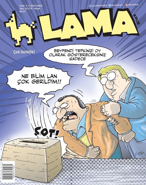 Lama Dergisi Nisan 2017 Kapak Karikatürü