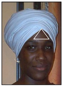 turban third eye moorish american woman