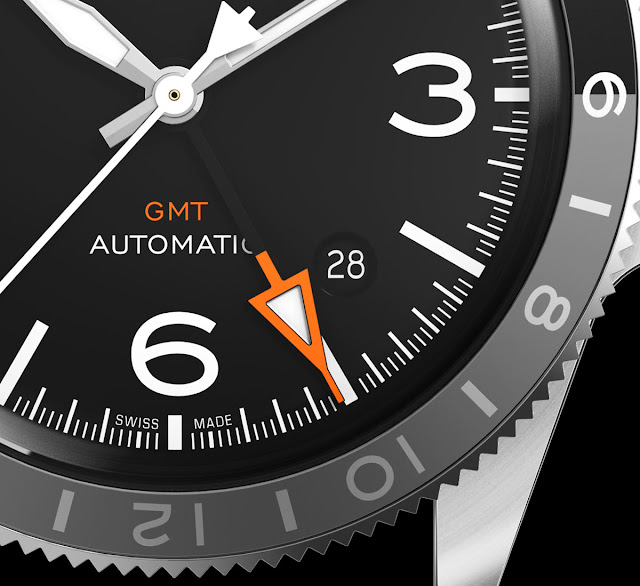 The GMT hand of the Bell & Ross BR V2-93 GMT 24H