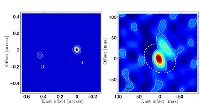 High resolution images of Mira A and B with ALMA (Source: Vlemmings, et al, arXiv:1503.07647v2)