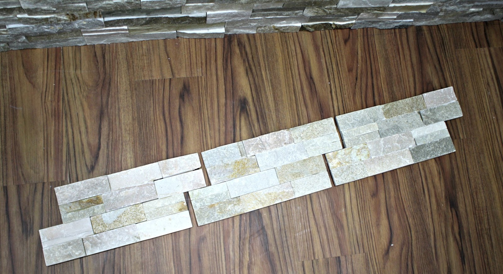 How to install stacked stone tile on a fireplace wall from thrifty how to install stacked stone dailygadgetfo Gallery