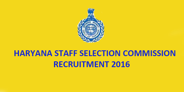 HSSC Recruitment 2016 Online Application: Haryana Staff Selection Commission (HSSC) Panchkula has released employment notification for the recruitment of 369 Fisheries Officers,Assistant and other jobs vacancy.
