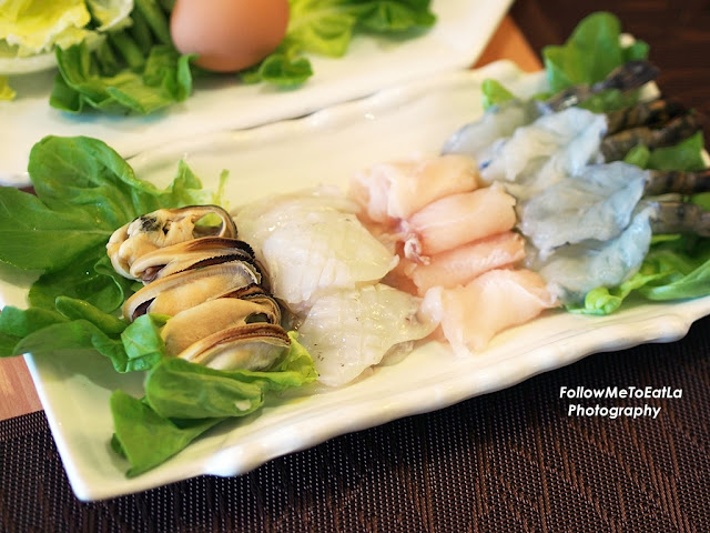 Seafood Platter Of Mussel, Squid, Fish Fillet & Tiger Prawn