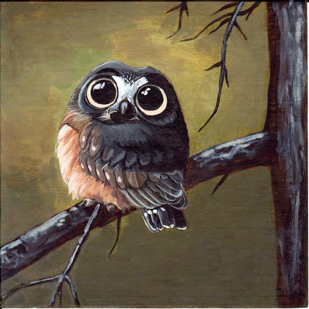 Andrea Gerstmann Art Cute Owl 2