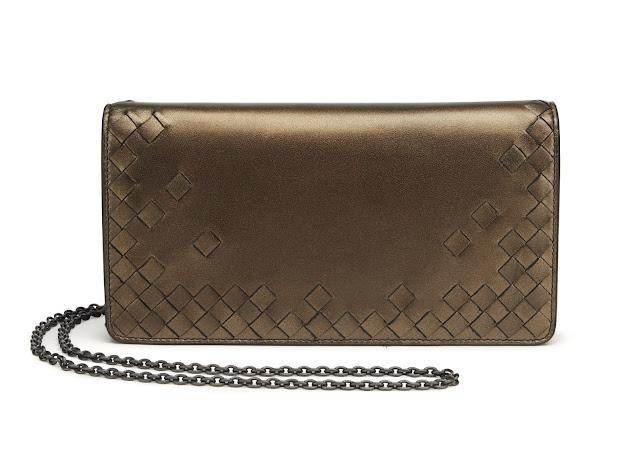 Bottega Veneta intrecciato chain wallet sample sale