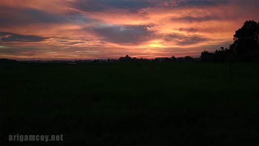 sunset di danau ho'ce kuala dua kubu raya