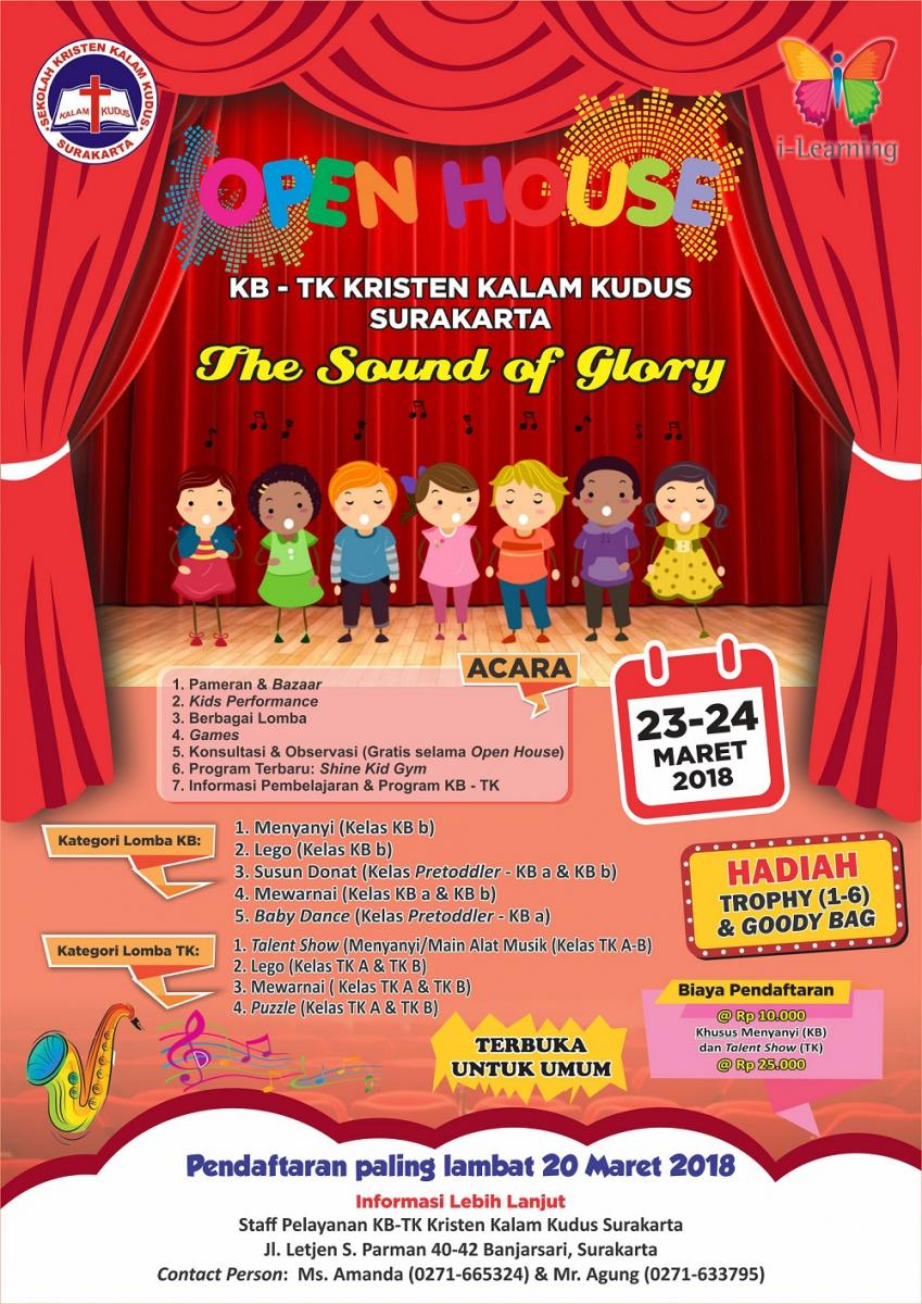 The Sound of Glory: Open House KB-TK Kristen Kalam Kudus Surakarta 2018