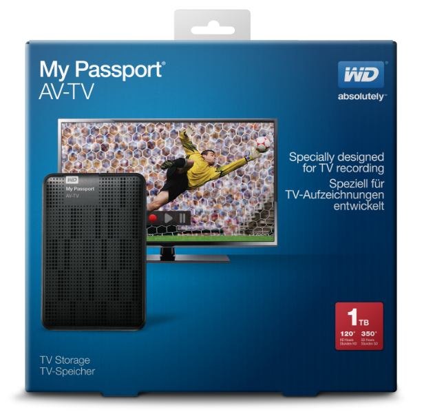 WD My Passport AV-TV Retail Box