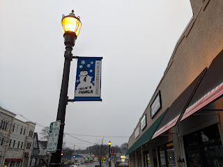 the winter season signs along Main St were changed out, the lights and  decorations on the Town Common came down this week