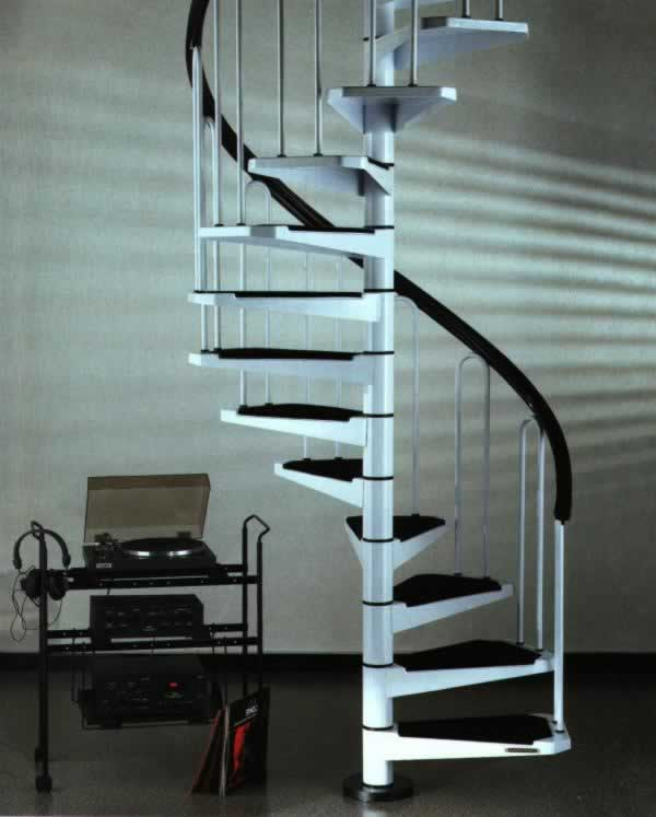 Compact Spiral Staircase: Small Scale Homes: SPACE SAVING STAIRS & LADDERS FOR SMALL