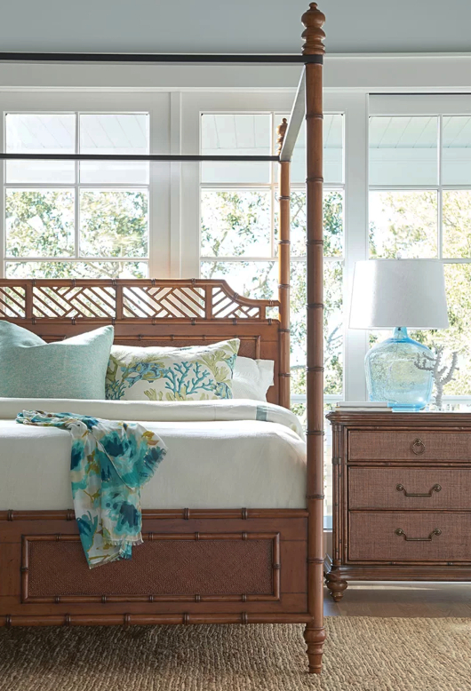 Tropical Island Inspired Canopy Bed Tommy Bahama