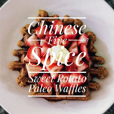Chinese 5 Spice Sweet Potato Paleo Waffles
