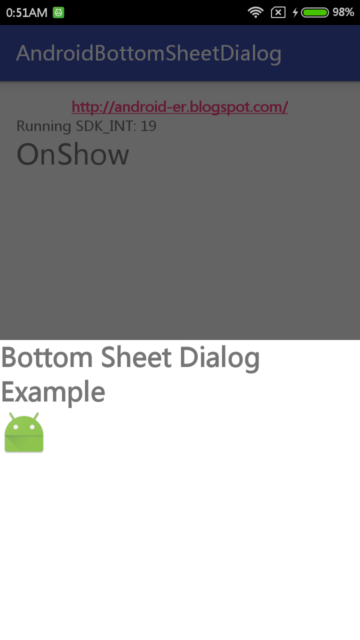 Android er bottomsheetdialog example - Er finestra android ...