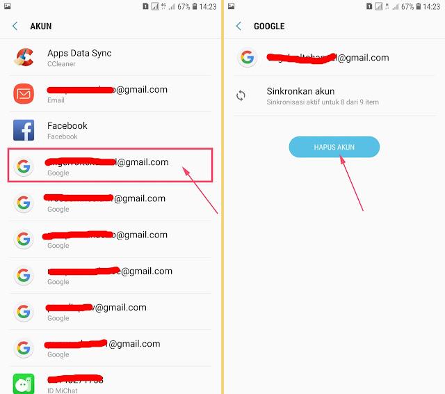 Cara Menghapus Akun Gmail di HP Android Samsung 13