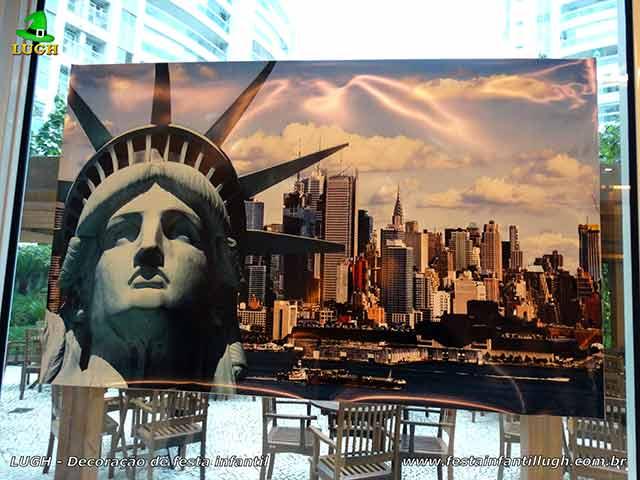 Decoração tema Nova York - Festa temática infantil
