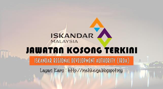 Jawatan Kosong Terkini 2016 di Iskandar Regional Development Authority (IRDA)