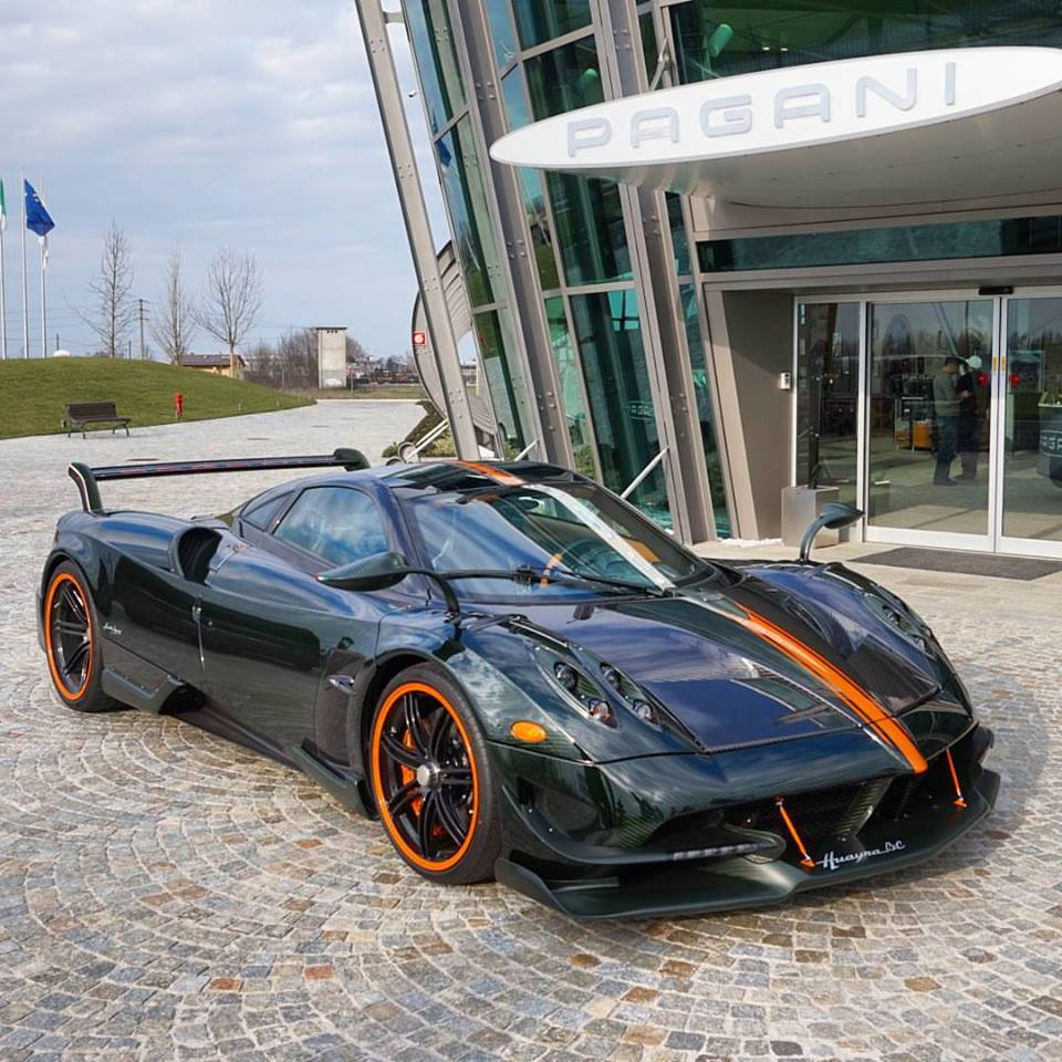 Green And Orange Pagani Huayra Bc Is From Another Planet