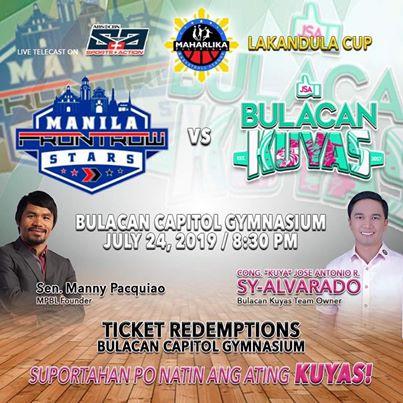 MPBL: Manila def  Bulacan, 93-72 (July 24, 2019) - PhilSports ph