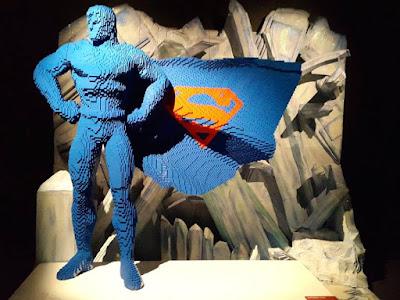 Superman in lego bricks