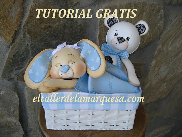 """""""tutorial goma eva gratis caja decorada canastilla bebe"""""""