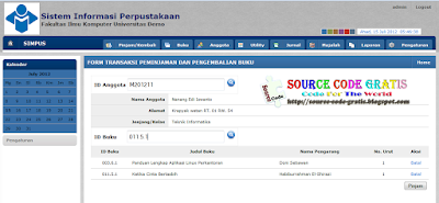 Download Source Code Gratis PHP Sistem Informasi Perpusatakaan