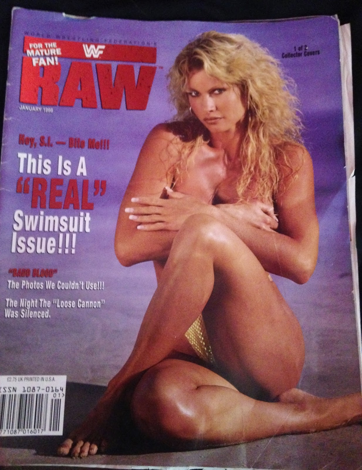 WWE - WWF RAW MAGAZINE - January 1998 - Sable collector's edition cover