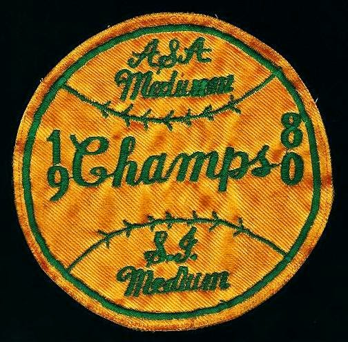 Orchard Inn champs team patch 1980