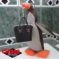 Miniature Purse & Purl Bee Penguin crafted by eSheep Designs