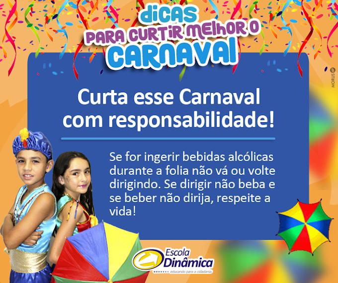 Dica de Carnaval da Escola Dinâmica