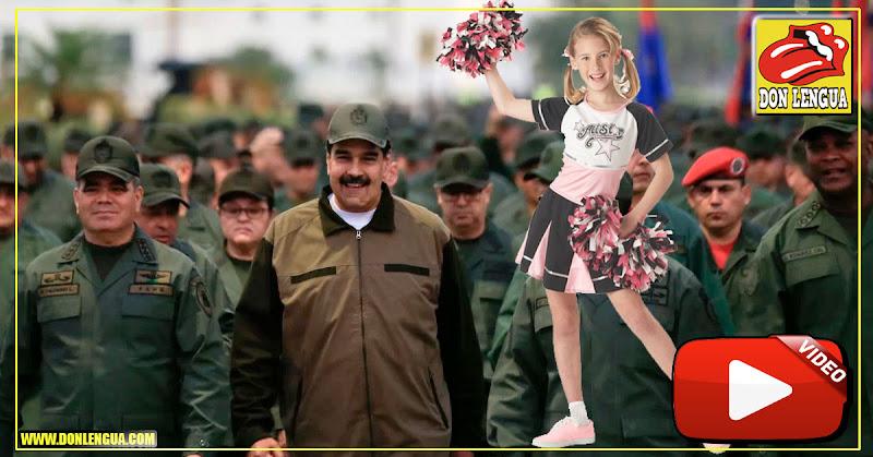 """Maduro subió de cargo a los soldados y ahora los convirtió en lindas """"porristas"""""""