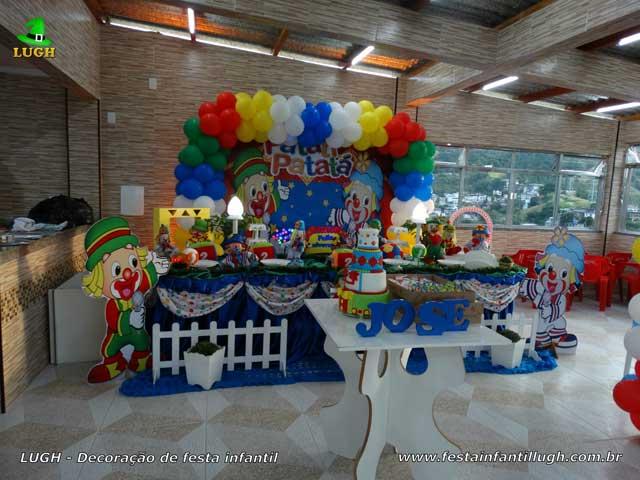 Decoração de aniversário Patati Patata - Mesa temática luxo de tecido para festa infantil - Jacarepaguá - RJ