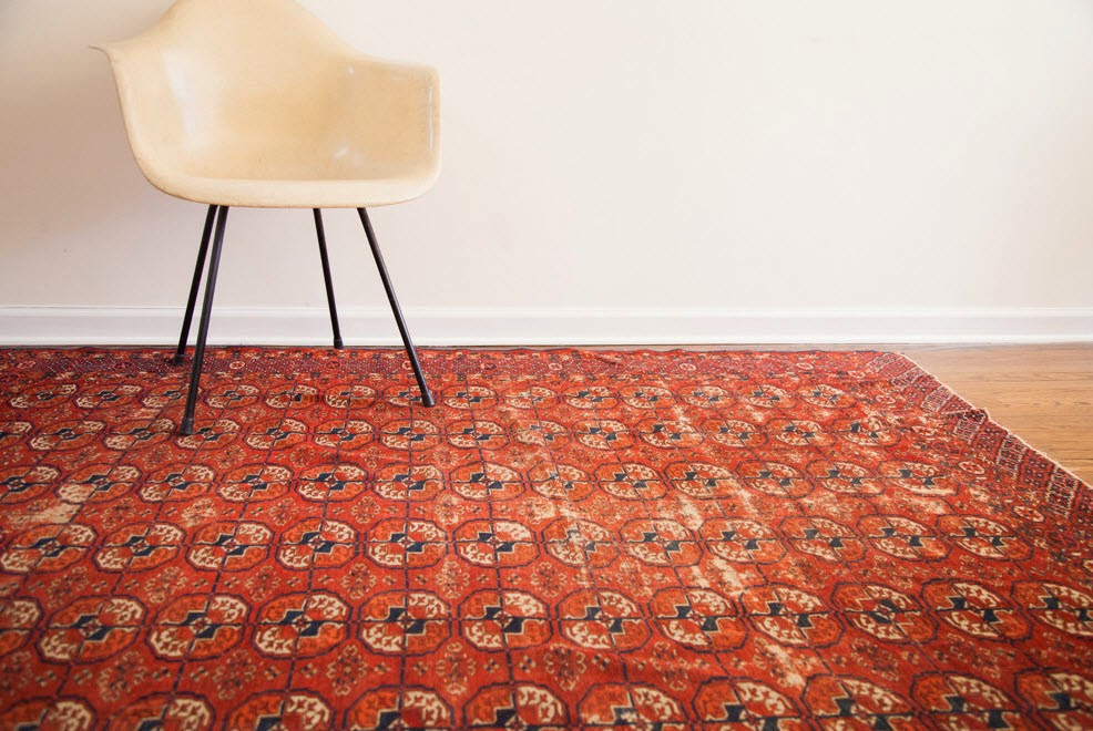 This Antique Tekke Rug Has An Unusual Pattern And A Warm Inviting Colour Palette