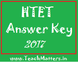 image : HTET Answer Key 2017 @ TeachMatters