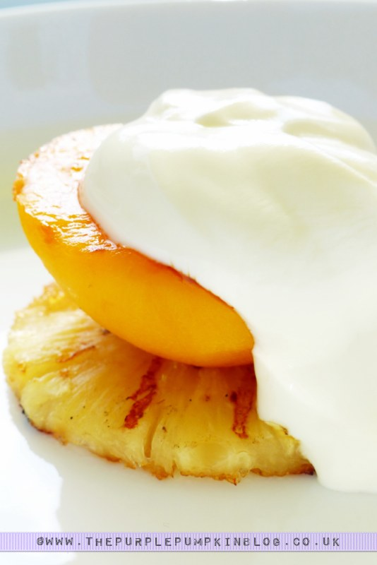 Budget #BBQ for a family of 4 for a tenner! with ASDA & #CBias: Caramelised Grilled Fruit with Greek Yoghurt