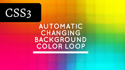 Automatic changing background color loop using CSS