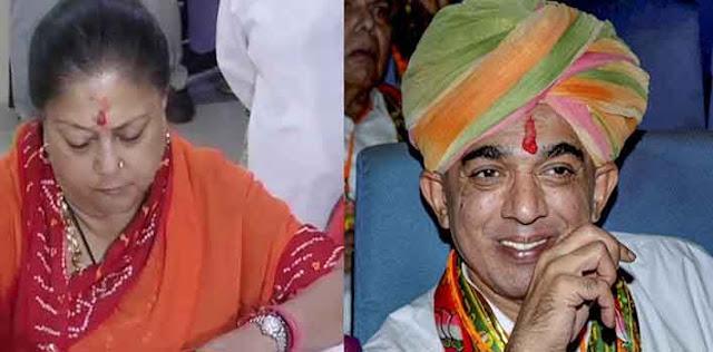 राजस्थान में वसुंधरा राजे के खिलाफ मानवेंद्र सिंह