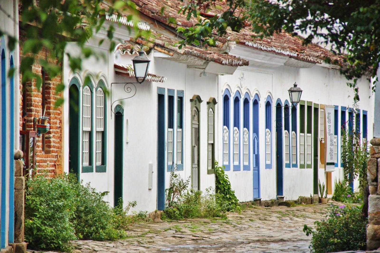 Arquitetura colonial do centro histórico de Paraty.