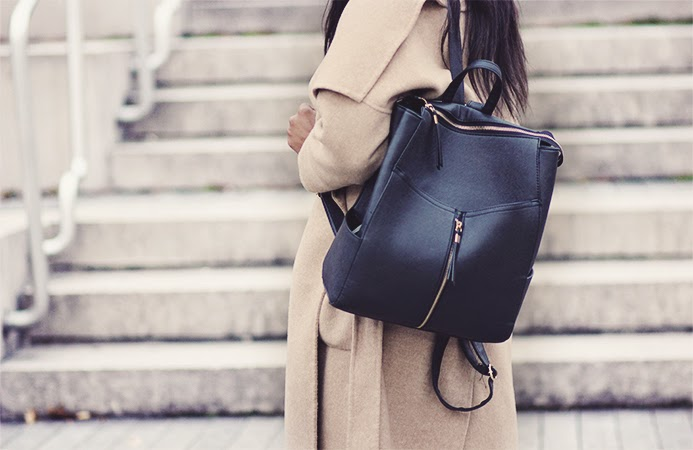 26f4afeff334 New Look Crosshatch Formal Backpack