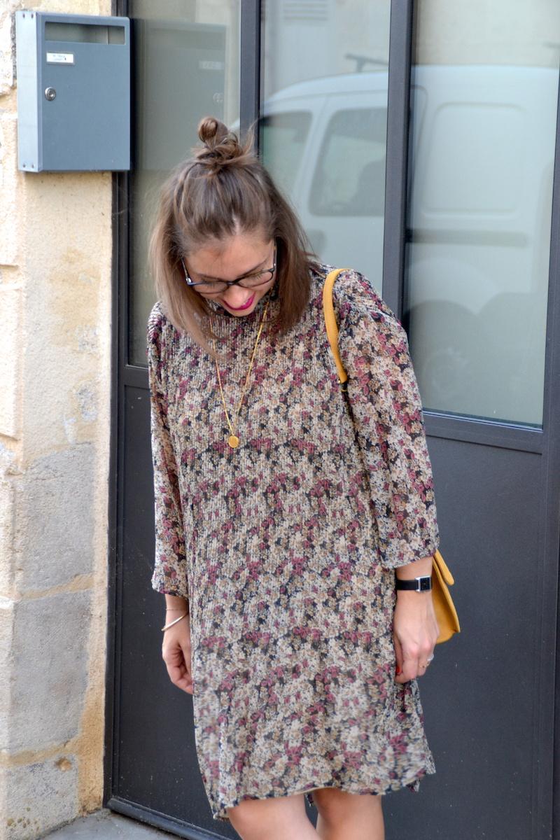 robe à fleur manche longue zara