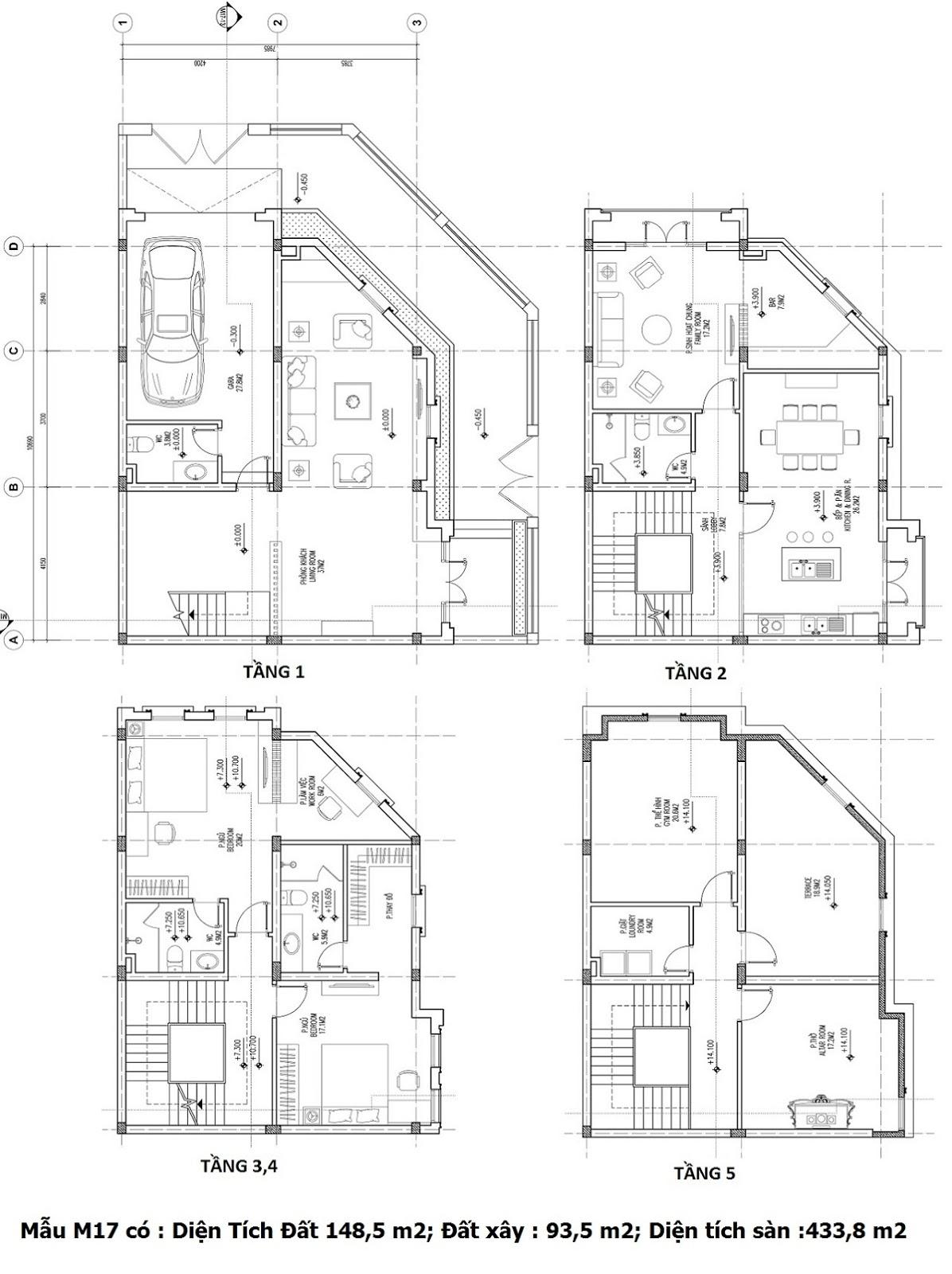 Mẫu thiết kế M17 Shophouse Larissa
