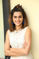 Taapsee Pannu in cream Sleeveless Kurti and Leggings at interview about Anando hma ~  Exclusive Celebrities Galleries 036.JPG