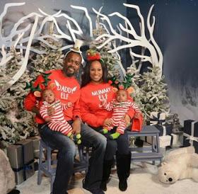 Gov. Ajimobi's daughter, Jibola & husband release Christmas card [Photo]