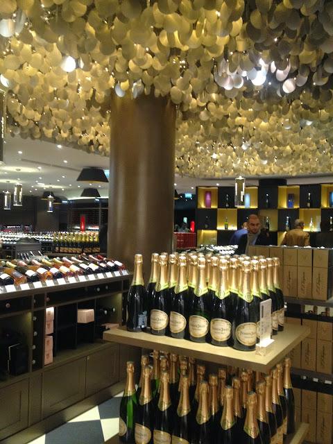 Champagne at Lafayette Gourmet, Paris
