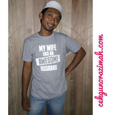 printcious,t-shirt khas buat suami, my wife has an awesome husband, t-shirt diy