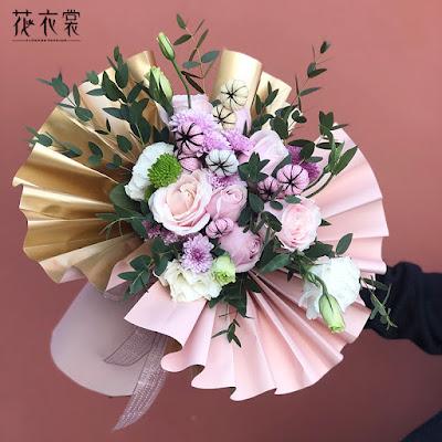 Kertas Buket Bunga / Flower Bouquet Wrapping Paper (Seri GOY)